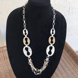 Etienne Aigner Silver  and Gold Necklace